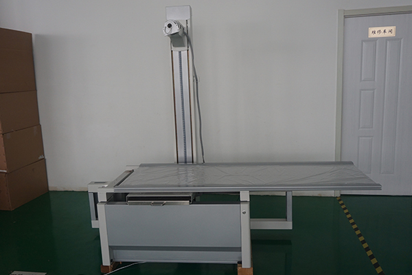 Mobile table for floor rail x-ray for human photography