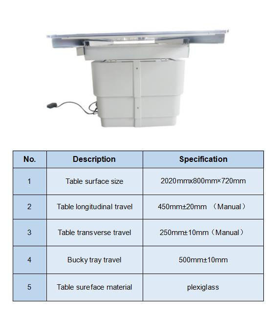4-Way Floating Radiology Table for ceiling suspension x ray specification
