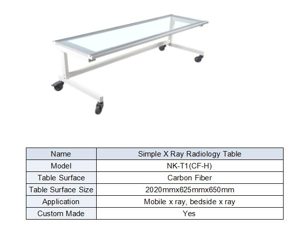 medical x-ray table with wheels suitable for dr system form