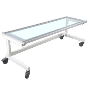medical x-ray table with wheels suitable for dr system
