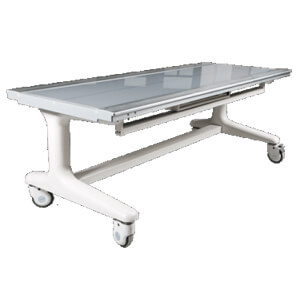 Mobile X-ray table with bucky
