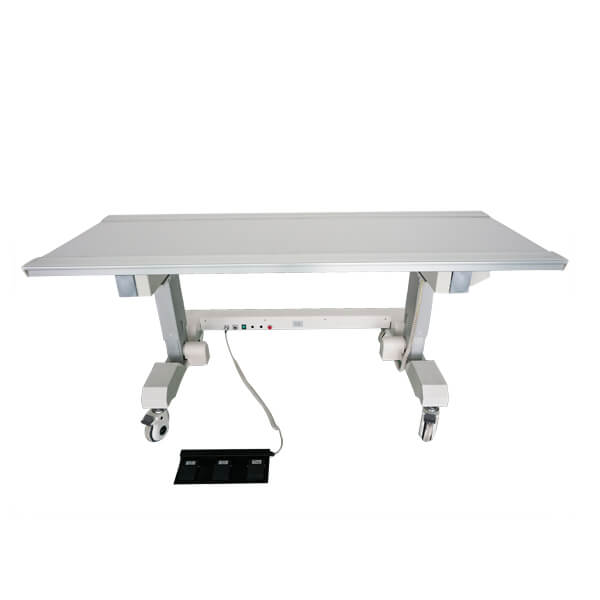 Six way x ray table suitable for radiology use front with foot switch