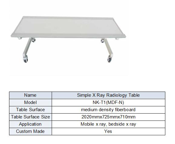 X Ray Examination Table Match For Different Radiology Machines form