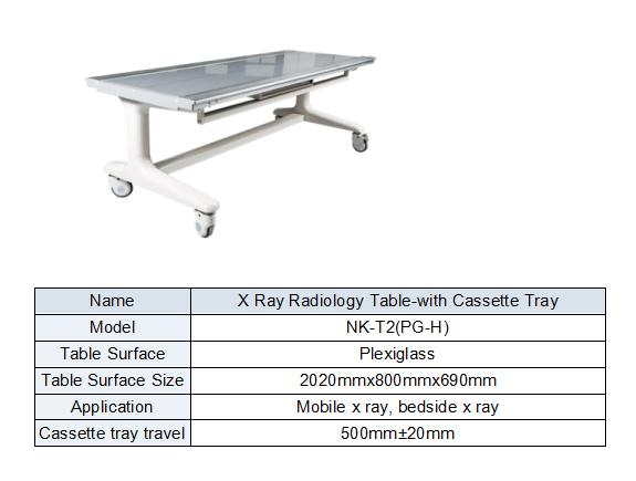 X ray table bucky for mobile digital form