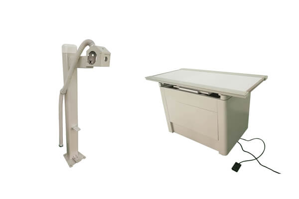 Application of the veterinary X ray table