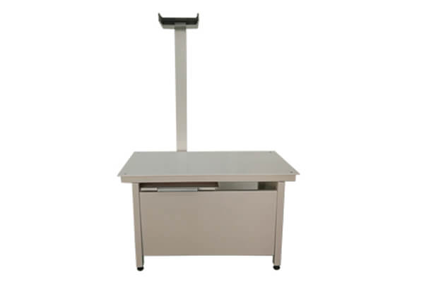 Four way floating veterinary x ray table