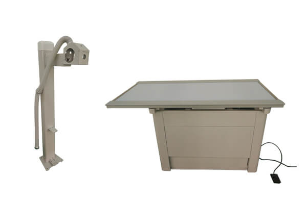 Purpose of the veterinary X ray table