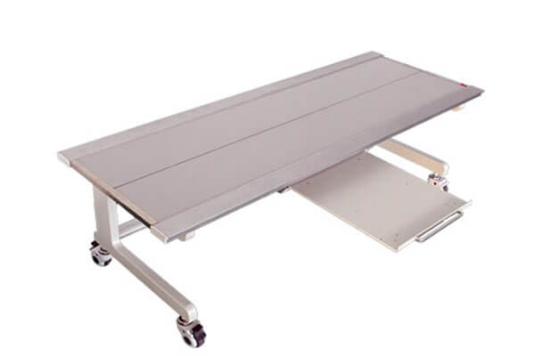 Use of medical X ray table