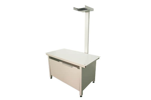 Veterinary X ray table overview