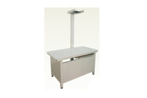 What is the purpose of the veterinary x ray table